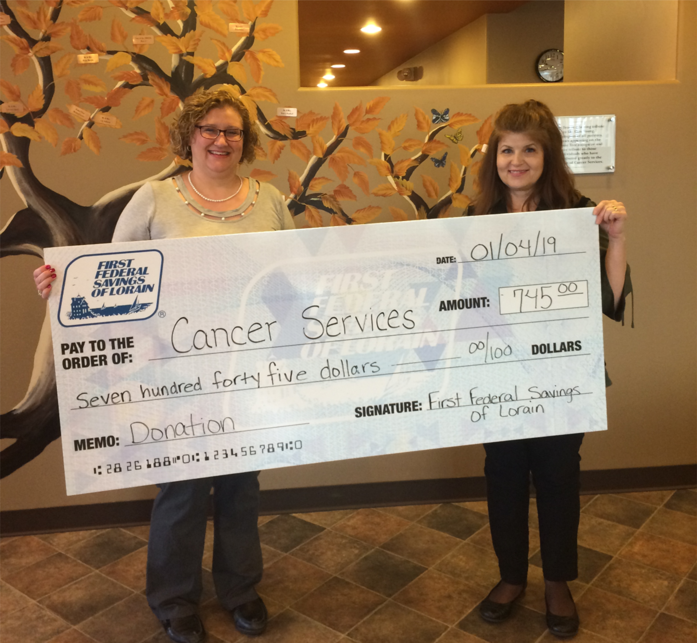 Cancer Services Donation